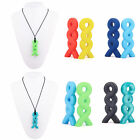 teething chew - Baby Pendant Necklace Teething Silicone Chew Pacifier Autism Sensory Toy Stylish
