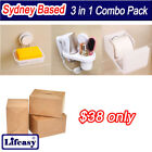3in1 Compo Pack Soap Dish Hair Dry Holder Toilet Paper Holder  Shelves Bathroom