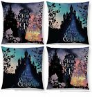 BELLE CINDERELLA QUOTATION CUSHION COVER SINGLE SIDE DISNEY WOVEN SILHOUETTE