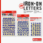 BLUE Iron On Letters Numbers Heat Transfer Alphabet Label -Half Inch -Inkviva