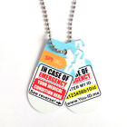 Emergency Medical ID Tag Chain ID NHS Blood Group Allergies Sends SMS Alert ICE