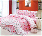 100% Cotton Hello Kitty Full/queen/king Size Duvet Quilt Cover Set