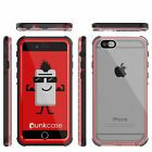 iPhone 6+/6S+ Plus Waterproof Case, PUNKcase CRYSTAL Red W/ Attached Screen Prot