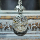 Handmade Real Dandelion Seed glass Orb Necklace -  Make a Wish Flower Jewellery