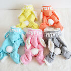 Rabbit Logo Dog Pajamas Thick Coats Clothing For Dogs Yorkie Pet Puppy Clothes