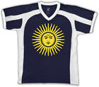 Argentina Sun Of May Golden Argentinian Country Pride ARG Men's V-Neck Sport Tee