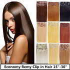 "USA STOCK !24""remy human hair clip In Extensions 8pcs &&120g ,3-5 days delivery!"