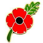 NEW RED POPPY LAPEL PIN ENAMEL BADGES BROOCH SOLDIER CROSS ARMY MILITARY 2017 UK
