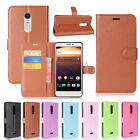 """Flip Magnetic Card Wallet PU Leather Case Stand Phone Cover For Alcatel A3 XL 6"""""""