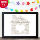 Personalised New Home First House Warming Gift Word Art Print - New Home Present