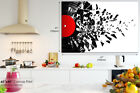 AB683 Black Red Music Modern Art Abstract Canvas Wall Art Framed Picture Print