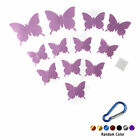 12x 3D Butterfly Wall Sticker PVC Decal Home DIY Decoration Christmas +Key Ring