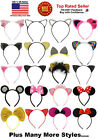 Cat Ears Mouse Ears Rhinestones Lace Sequins Costume Headband Hair Band Stuffer