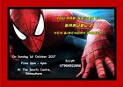 Personalised Spider-Man Heroes Inspired Party Invitations (Various Designs)