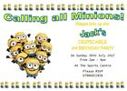 More Personalised Party Invites Despicable Me (1,2 & 3 plus Minion Styles)
