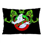 """GHOSTBUSTERS SLIMER Zippered Pillow Case 16x24"""" and 18x26"""" inch Cushion Cover"""