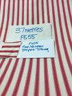 Static Caravan Curtains/pelmets/tiebacks red/cream ticking- Build your own set