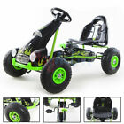 KIDS RIDE ON RACING PEDAL PUSH GO KART RUBBER TYRES ADJUSTABLE SEAT HAND BRAKE