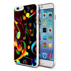 For Various Phones Design Hard Back Case Cover Skin - Colourful Musical Notes