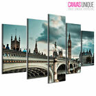 PC186 London Bridge Big Ben  Scenic Multi Frame Canvas Wall Art Print