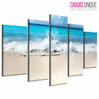 PC812 Beach Sand Sea Waves Crash Scenic Multi Frame Canvas Wall Art Print