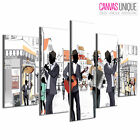 5PE210 Live Band Playing Vector Art  Multi Frame Canvas Wall Art Print