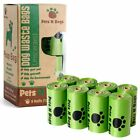 Dog Poop Bags Pets Waste Bags Pick Up Pooper Dispenser With Refill Garbage Rolls
