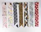 New Coach Multi-color Pony 100% Silk Bag Accessories Scarf Hairband