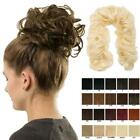 Hair twirl wrap around hairpiece up do curly clip in Various colours