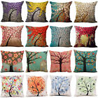 Vintage Floral Pillows Case Throw Cotton Linen Cushion Cover Sofa Car Home Decor