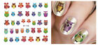 Nail Art Stickers Water Transfer Owl To-wit to-whoo Colorful Halloween