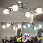 LED Chrome Ceiling Light dimmable glass corridor leaves lamp RGB remote control