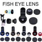 3in1 180° Fish Eyes+Wide Angle+Macro Camera Lens Travel Kit for Universal Phones