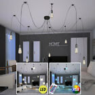 LED ceiling suspended lighting dimmable dining room textile RGB REMOTE CONTROL
