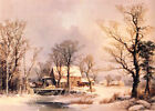 Classic American Landscape Art Print: The Old Grist Mill by George H. Durrie