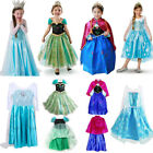 Kids Girls Elsa Frozen Dress Cosplay Costume Princess Anna Party Fancy Dresses