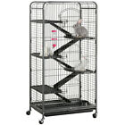 52&rsquo;&rsquo; Pig Ferret Rabbit Cage with 3 Front Doors 6-Level Indoor Hutch Cage <br/> Two Colors! Fast Shipping from CA&amp;NY&amp;CHI!