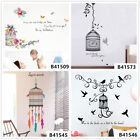 Colorful Bird Cage Home Room Decor Removable Wall Stickers Decals Decorations