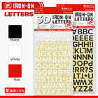 Inkviva Iron On Letters 3D Label Name Appliqué Small Lettering -Half Inch -12mm