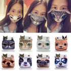 Cute Unisex 3D Cat Dog Face Cycling Anti-Dust Cotton Mouth Mask Respirator Masks