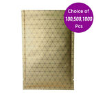 3x4.75in Wholesale Gold Aluminum Open Top Pouch Bag with Heat Seal Machine A3