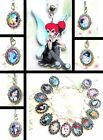ALTERNATIVE DISNEY KEYRING NECKLACE OR CHARM BRACELET EMO PUNK KISS ELSA ALICE