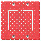 Red with White Polka Dots - Light Switch Covers Home Decor Outlet