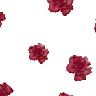 Emily Bieman Roses Red Burgundy Fabric Printed by Spoonflower BTY