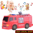 Kids Boys Children Fire Truck Toy Fire Vehicle Cars With Lights Sounds Gift