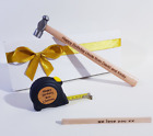 Any Word DIY Personalised GIFT For Dad HIM Grandad Uncle SET Hammer tape measure
