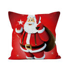 45*45cm Santa Claus Christmas Pillow Cushion Waist Throw Cover Case Sofa Decor