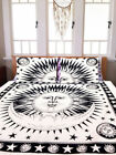 Mandala Burning Sun & Moon Duvet Doona Cover Throw Quilt Cover Bohemian Bedding