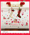 Merry Christmas Wall Stickers For Kids Rooms Glass Window Background Wall Decals
