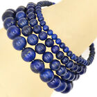 Handmade Natural Gemstone Round Beads Stretch Bracelet 4mm 6mm 8mm 10mm